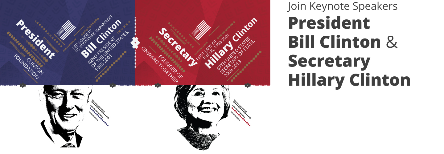 Discovery Leadership Summit 2018 – Guest Speakers - Hillary Clinton - Bill Clinton